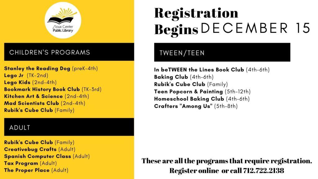 Registration Begins
